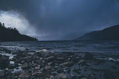 Dramatic weather ... Scotland (Julie Greg .. Holiday 13/12 - 31/12 2018) Tags: scotland weather dramatic sky colours clouds water lake landscape stones mountains storm