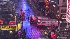 FDNY Hazmat Company 1 (Using Callsign Hazmat 2) & Second Piece On Scene In Times Square On New Year's Eve For A Diesel Spill From A Cherry Picker (MJ_100) Tags: fdny firedepartment fireservice firebrigade emergencyservices emergencyvehicle newyork newyorkcity nyc hazmat hazardousmaterials hazmat1 hazmat2 soc specialoperationscommand firetruck manhattan timessquare newyearseve nye