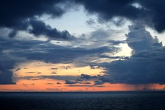Baltic Sea Sunset (Seventh Heaven Photography *) Tags: baltic sea water ocean sunset dusk clouds sky silhouttes orange nikon d3200