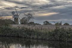 Fenland landscape (David Feuerhelm) Tags: nikkor landscape windmill river reeds clouds trees countryside norfolk uk england nikon d750 2470mmf28