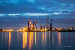 Botlek Shipyard (Peet de Rouw) Tags: damen verolme shipyard scheepswerf botlek night hdr portofrotterdam port peetderouw denachtdienst rotterdam holland netherlands