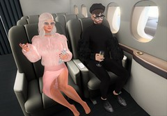 Going Abroad! (EnviouSLAY) Tags: travelscene travel scene airplane foxcity fox city firstclass first class fur black pink elegant oxford beret sunglasses newreleases brunette barbershop deadwool noche letre belleza bento lelutka moncada toksik kustom9 kustom 9 treschic tres chic fakeicon monthlyevent monthlyfair monthlyfashion monthly event fair fashion luxury pale male gay blogger secondlife second life photography secondlifefashion secondlifephotography