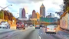Driving to Atlanta on I75 south bound (CopperScaleDragon) Tags: deepdreamgenerator ddg atlanta i75 interstate skyline