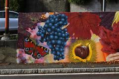 Features of Villa d'Almè - Detail 7: grapefruit, butterfly and chestnuts (Wiz Art) Tags: writing wiz writer wizboy wall wallart wizart wizartgraffiti artwork artist art animal aerosolart streetstyle spray streetartist sprayart streetart sprayartist street spraypaint detail decoration red flickrgraffiti futurism food graff graffitiartist graffitiart graffitism graffiti legality hardcore photography kobra loopcolors landscape clash colors montana italy ironlak moscatodiscanzo urban urbanart murales mtn94 bergamo nbq nature belton