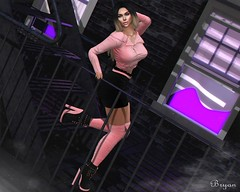 City Girl (Bryan Trend) Tags: genus project head maitreya belleza freya isis slink hourglass truth hair scandalize jacket skirt boots vanity event decor focus poses backdrop model blogger sl second life secondlife woman female