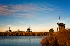 The Waterfront (Alfred Grupstra) Tags: windmill windturbine wind sky nature turbine mill netherlands traditionalwindmill windpower landscape dutchculture ruralscene blue fuelandpowergeneration watermill cloudsky propeller environment