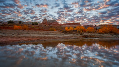Grand Staircase Reflection (Jeff Sullivan (www.JeffSullivanPhotography.com)) Tags: grand staircase escalante national monument utah blm bureau land management red rock sandstone roadtrip landscape nature travel photography outdoor exploration canon photo copyright 2007jeff sullivan october wwwjeffsullivanphotographycom reflection clouds weather sunrise dawn colorful serene scenic