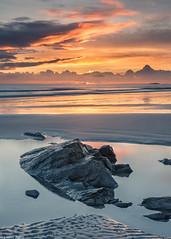 Fiery sky (Donard850) Tags: ardspeninsula ballywalter countydown northernireland beach rocks sunrise