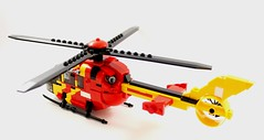 Eurocopter H135 - Lifesaver 30 (2) (Lonnie.96) Tags: lego brick red yellow blue white black grey gray wheel blade truck helicopter 2018 december light h135 eurocopter lifesaver 30 lifesaver30 type 3 medium pumper highton queenscliff moc creation custom cfa country fire authority lsv life saving victoria westpac rescue new replacement old transfer winch brickvention 2019 ladder rotor window door front back side australia stripe checker orange gren tail closed exhaust