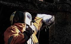 Pier Welder (Simon Taylor Local Photographic) Tags: welder westsussex bognorregis bright dark orange working facemask tools industrial sparks work