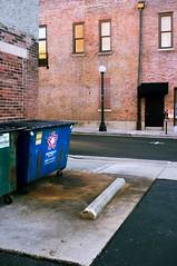 Alley (JustinHood) Tags: grungy alley dumpster chambana champaign lookslikefilm color fujifilm fujix100 fuji
