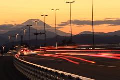 The Road to Mt.Fuji (seiji2012) Tags: 国立市 日野市 石田大橋 富士山 夕焼け 日没 kunitachi sunset japan evening happyplanet asiafavorites