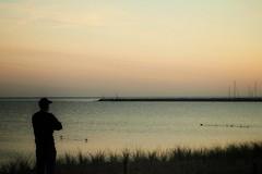 a precious moment (robert.freitag) Tags: olympus beach strand sunrise sonnenaufgang rügen wasser meer water ocean