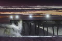 high swells pacifica pier (pbo31) Tags: bayarea california nikon d810 color december 2018 boury pbo31 pacifica sanmateocounty sunset ocean pacific storm tide coast wave sky west water beach shore pier crash swell purple