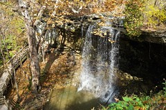 Charleston Falls (D. C. Wilson) Tags: park reserve woods trees leaves sunlight shadow autumn fall water waterfall forest rock landscape charleston ohio sony