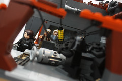 Factions 01: Hallway view (darth85) Tags: starwars lego swlego legostarwars legosw moc star wars destroyer jakku covert mission empire imperial factions remnant squad rebel minifigure minifig