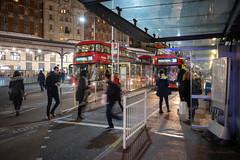 Victoria Bus Station (cybertect) Tags: 390 arriva arrivalondon carlzeissmmdistagont28mmf28 cityofwestminster lt179 lt99 ltz1099 ltz1179 london londonsw1 londonbus metroline newbusforlondon newroutemaster sw1 sonya7ii victoriastation bus busstation doubledecker night route390