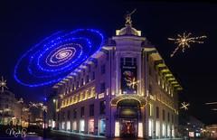 Galerija Emporium (marko.erman) Tags: ljubljana slovenia slovenija christmas illuminated square trg beautiful city morning sony night light colors wideangle galerijaemporium newyear longexposure prešerensquare