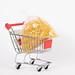 Bag of pasta in shopping cart