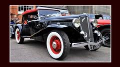 1935 Jensen S 3.5 litre Tourer EA 6868 (BIKEPILOT, Thx for + 5,000,000 views) Tags: 1935 jensens 35litretourer ea6868 brooklandsnewyearsdaygathering brooklandsmuseum weybridge surrey uk vintage classic car automobile transport vehicle black red carshow england britain newyear 2019