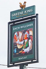 Zach Willsher, Benfleet. (piktaker) Tags: essex benfleet pub inn bar tavern publichouse innsign pubsign zachwillsher greeneking