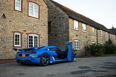 RSN. (TJHarrington) Tags: koenigsegg agera rs agerars rsn agerarsn blue white 2ndm supervettura vmax200 car supercar hypercar megacar 1of25 opendoor goldenhour