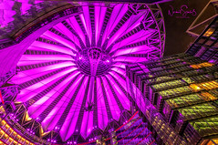 Berlin @night ... Location Sony Center (nigel_xf) Tags: night nacht nachtaufnahme nightshot lights architecture architektur sony sonycenter roof dach dachkonstruktion lila violet berlin hauptstadt nikon d300 nigel nigelxf vsfototeam illuminated illumination