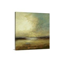 Land Wall Art - Canvas - Gallery Wrap Large abstract landscape painting showcasing a cloudy sky over a beach and ocean. This piece is composed of mostly Earthy and warm tones.   Check out our website: https://spaceplug.com/new-land-wall-art.html . . . . # (spaceplug) Tags: gift love photooftheday canvas marketplace spaceplug buy sell happy gallerywrap wallart fineart newland cute nice amazing bigcanvas style