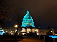 blue dome (ekelly80) Tags: dc washingtondc january2019 winter capitol capitolhill night lights blue dome walk evening
