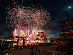 Epcot - Peace on Earth (Jeff Krause Photography) Tags: christmas disney epcot fireworks gate illuminations japan lagoon moon park pavilion showcase tag torii wdw walt world theme
