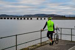 Light fading at Arnside (robmcrorie) Tags: arnside viaduct cyclist cycling lycra nikon d850 1z10