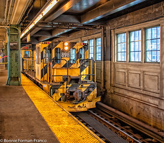 TRAIN TRACK CLOSED FOR REPAIRS 1-----_2019-01-27 ELEVATED N LINE ASTORIA_D85_2932 (Bonnie Forman-Franco) Tags: yellow elevatedsubway elevated nyc nycsubway nsubwayline blue subwaytrackrepaircars traintracks travelphotography subwayphotography photoladybon lifeonthetrain trainlandscape cityscape cityscapes architecture buildings queens astoria nikon nikonphotography nikond850 nikon28300 subwaytrainstation streetphotography reflections reflection photography