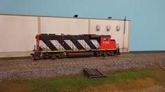GP38 NTC (Larry the Lens) Tags: cn canadiannational cnr gp382w zebra stripe athearn ho hoscale gp382