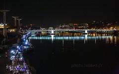 Course des lumières à Lyon. (louis.labbez) Tags: fleuve rhône saone river confluences lyon ville town urbanisme ile 69 france race light lumière route course pont bridge illumination rhônealpes labbez