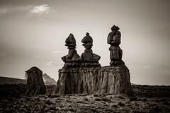 Goblin Valley (ValeTer_) Tags: black white sky rock monument monochrome photography statue cloud temple history landscape nature utah goblinvalley goblinvalleystatepark