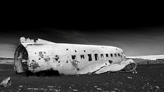 USN DC-3 on Sólheimasandur (stevegilliesphoto) Tags: mýrdalshreppur southernregion iceland is dc3 travel airplane wreckage crash nikon d810 usn navy wreck fuselage beach