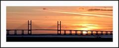 Severn Sunset (juliemarie.stollery) Tags: sunset severn estuary sky sun bridge severnbridge