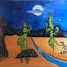 """Cactus Family"" by Cynthia B, acrylic, $80.00"