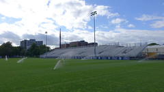 Wanderers Grounds - Halifax (2018) (Coastal Elite) Tags: wanderersgrounds halifax novascotia canada sports facility sport soccer pitch football rugby natural grass outdoors atlanticcanada wanderergrounds wandererground summer terrain wanderers grounds hfxwanderersfc hfx wanderersfc home turf wanderer ground gradin gradins bleachers seating pelouse gazon lawn sprinklers watering water sprinkler commons halifaxcommons common halifaxcommon