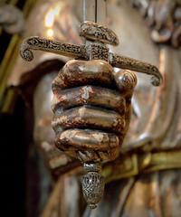St.Paulus 11 (Phil*ippe) Tags: saint paulus church antwerp blackwhite black white tomb statue angel sword philippus paul