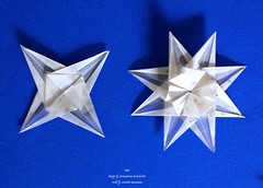 Star (Zsuzsanna Kcricskovics) (AnkaAlex) Tags: origami origamistar modularorigami paperfolding whitestar translucentpaper