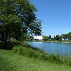 Evanston, IL, Northwestern University, Graduation Day Tent on the Lagoon (Mary Warren 12.1+ Million Views) Tags: evanstonil northwesternuniversity campus nature flora plants green trees water lagoon tent landscape
