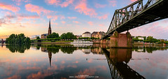 Panoramic view River Main Frankfurt (Shahid A Khan) Tags: frankfurt landmark light nature travel trees cityscape cloudysky coneshapetower eisernersteg footbridge frankfurtammain frankfurtcathedral germany ironbridge panoramicview passengerboats reflection rivermain rusty skyline sunset sakhanphotography shahidakhan images nikon d750