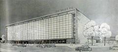 Arlington, VA Hecht's Parkington Center, 1951 (army.arch) Tags: arlington virginia va ballston parkington shopping center mall hechts departmentstore macys ballstonquarter 1951 drawing rendering