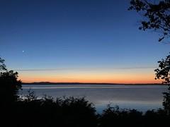 Crescent Moon. www.jessica365.com (Jessica Brookes-Parkhill) Tags: vermont burlingtonvt crescentmoon jessica365 lake sunset favoriteplaces starrfarm starrfarmbeach lakechamplain