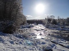 Potarch Bridge in Winter (Ian Robin Jackson) Tags: snow bridge aberdeenshire scotland riverdee water wintry ice february