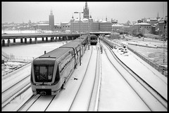 Stockholm 4 Feb 2019 (Micke Borg) Tags: 125 rodinal panf ilford 14 50mm ltm canon m4 leica metro ubahn underground subway tunnelbaba sverige sweden stockholm