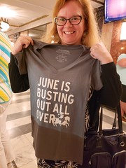 June Is Busting Out All Over (Joe Shlabotnik) Tags: broadway carousel justsue sue newyorkcity cameraphone nyc manhattan tshirt imperial theater 2018 august2018 galaxys9