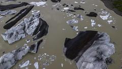 Stripes (aerojad) Tags: hornafjörður easternregion iceland is dji mavic mavicpro dronephotography drone 2018 vacation travel wanderlust iceland2018 outdoors autumn glacier glaciers iceberg icebergs lookdown svínafellsjökull svínafellsjökullglacier