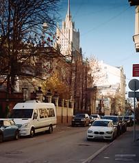 autumn street (narrator of the tales) Tags: moscow portra kodak 35mm autumn street